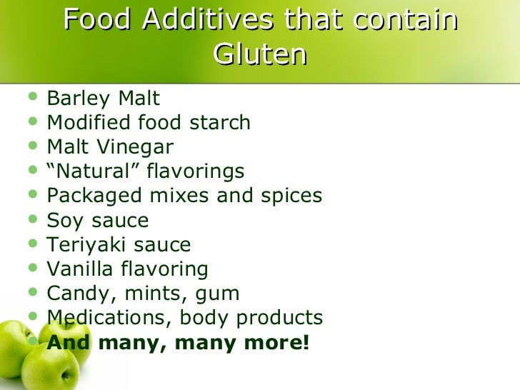 Does Modified Food Starch Contain Gluten