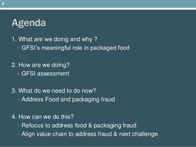 GFSI, BRC, SQF and beyond where food safety is heading and packaging'…
