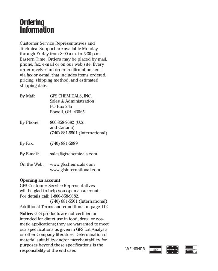 GFS Chemicals Karl Fischer Reagents - Watermark Brand