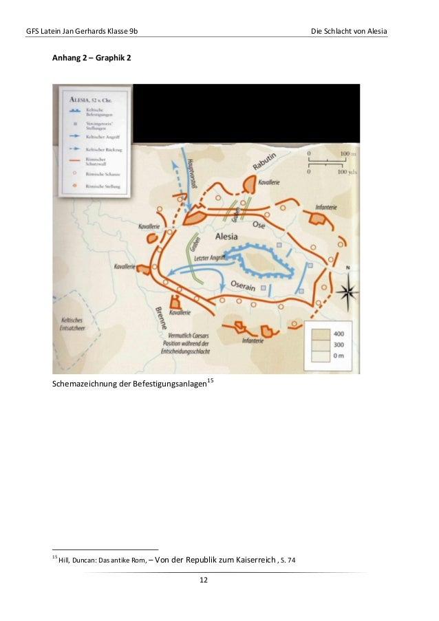 GFS Latein Jan Gerhards Klasse 9b Die Schlacht von Alesia12Anhang 2 – Graphik 2Schemazeichnung der Befestigungsanlagen1515...