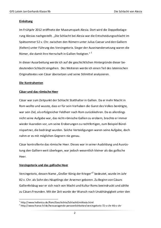 GFS Latein Jan Gerhards Klasse 9b Die Schlacht von Alesia2EinleitungIm Frühjahr 2012 eröffnete der Museumspark Alesia. Dor...