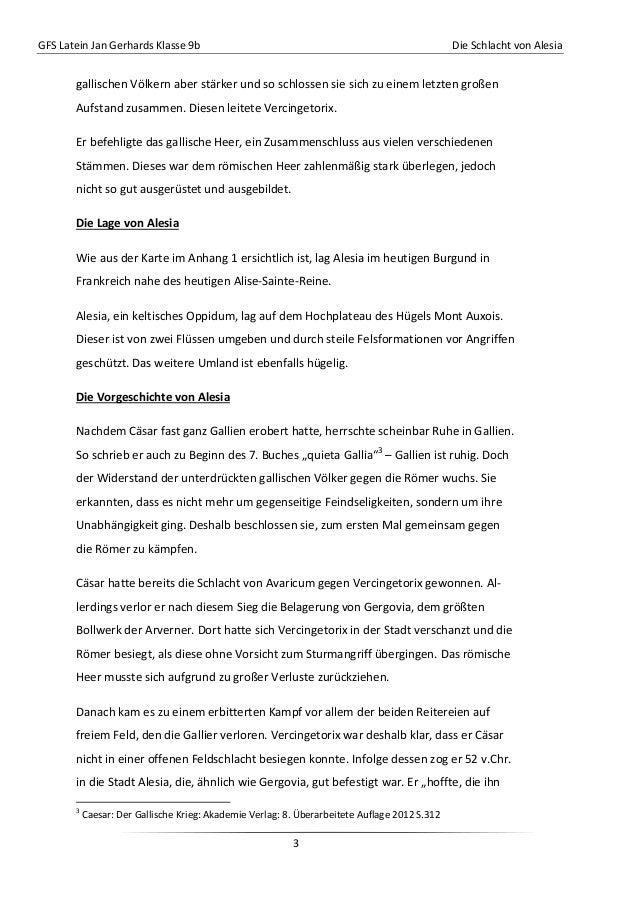 GFS Latein Jan Gerhards Klasse 9b Die Schlacht von Alesia3gallischen Völkern aber stärker und so schlossen sie sich zu ein...