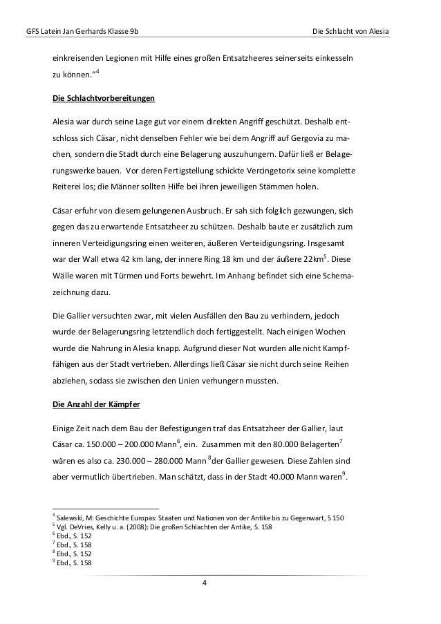 GFS Latein Jan Gerhards Klasse 9b Die Schlacht von Alesia4einkreisenden Legionen mit Hilfe eines großen Entsatzheeres sein...