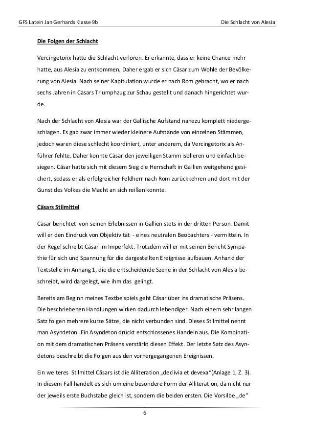 GFS Latein Jan Gerhards Klasse 9b Die Schlacht von Alesia6Die Folgen der SchlachtVercingetorix hatte die Schlacht verloren...