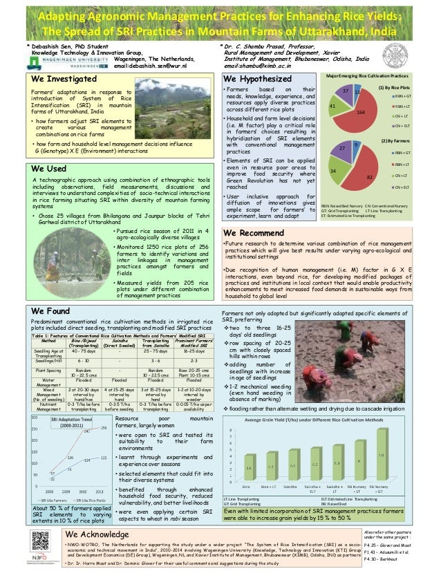 Adapting Agronomic Management Practices for Enhancing Rice Yields: The Spread of SRI Practices in Mountain Farms of Uttara...