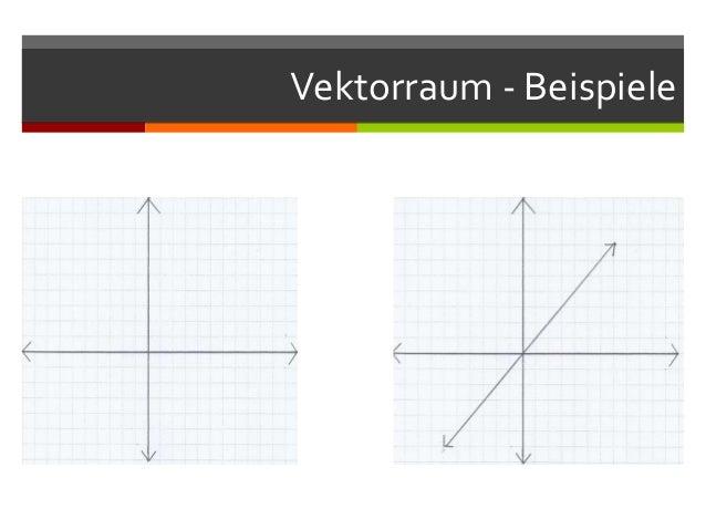 Vektorraum - Beispiele