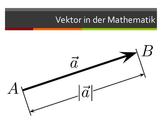 Vektor in der Mathematik