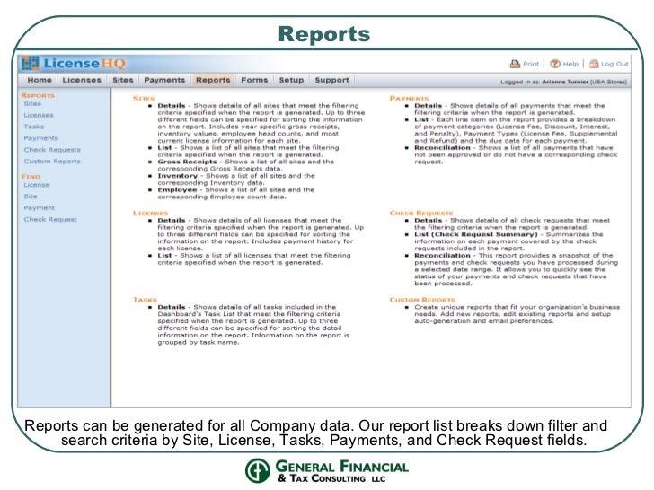GFTC Business License Management Program
