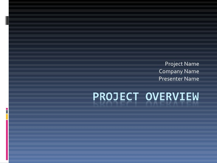 template for project overview, Presentation templates