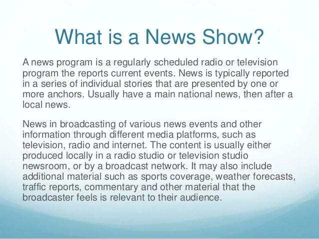 the codes and conventions of factual tv programs essay Read this essay on horror fiction  if we turn on the news, we expect to be fed with factual information about the happenings in  tv programs or read.