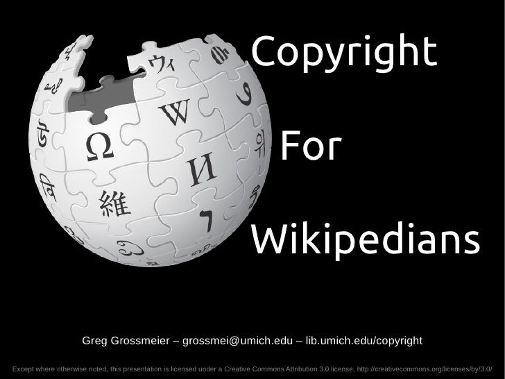 Copyright for Wikipedians