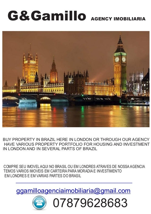 G&Gamillo AGENCY IMOBILIARIA BUY PROPERTY IN BRAZIL HERE IN LONDON OR THROUGH OUR AGENCY HAVE VARIOUS PROPERTY PORTFOLIO F...