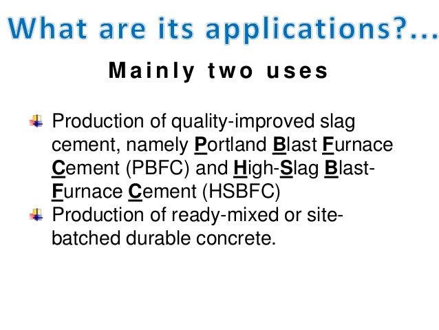 Slag Cement Density : Ggbs