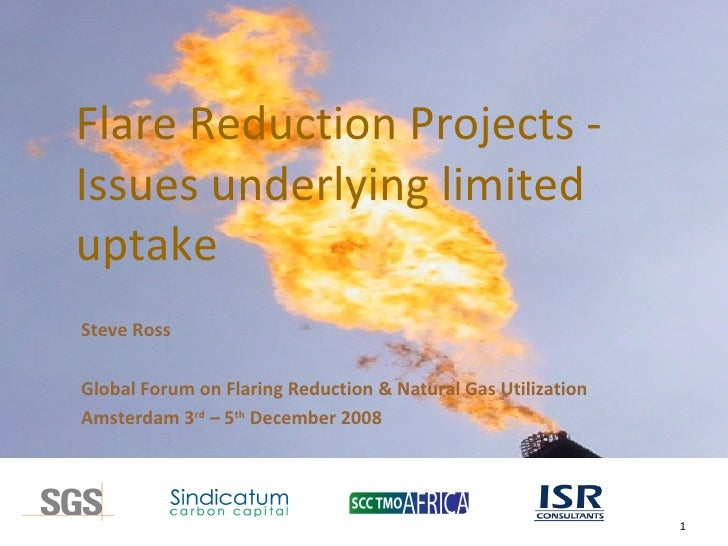 Flare Reduction Projects -  Issues underlying limited uptake Steve Ross Global Forum on Flaring Reduction & Natural Gas Ut...