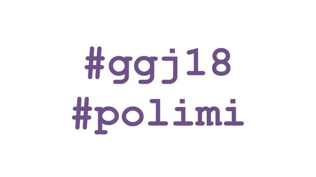 GGJ18 al Politecnico di Milano - Presentazione di apertura