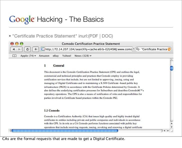 google hacking basic