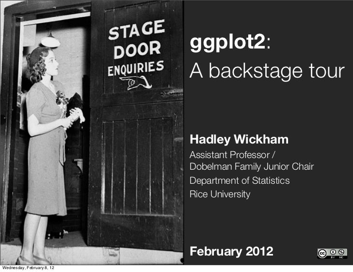 ggplot2:                            A backstage tour                            Hadley Wickham                            ...