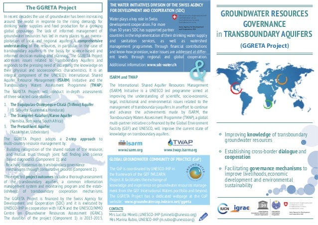 THE WATER INITIATIVES DIVISION OF THE SWISS AGENCY  The GGRETA Project around the world in response to the rising demands ...