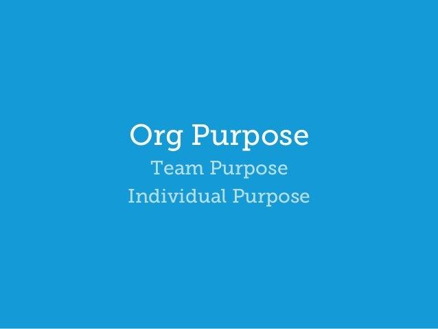 Purpose team