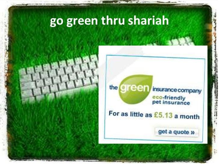 go green thru shariah