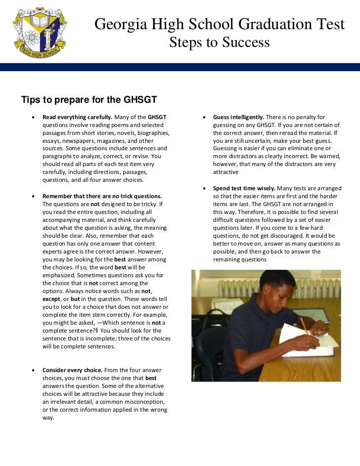 Georgia High School Graduation Test                                                        Steps to Success               ...