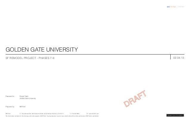 GOLDEN GATE UNIVERSITYSF REMODEL PROJECT - Phases 7-9                                                                     ...