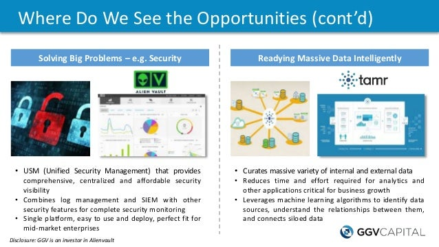 Where Do We See the Opportunities (cont'd) Readying Massive Data Intelligently • USM (Unified Security Management) that pr...