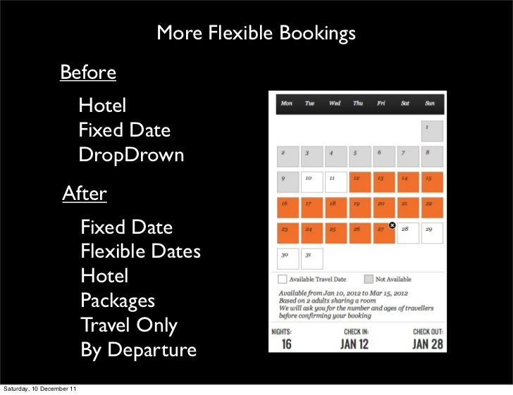 More Flexible Bookings                  Before                           Hotel                           Fixed Date       ...