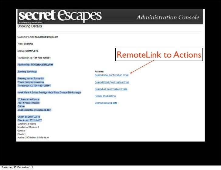 RemoteLink to ActionsSaturday, 10 December 11