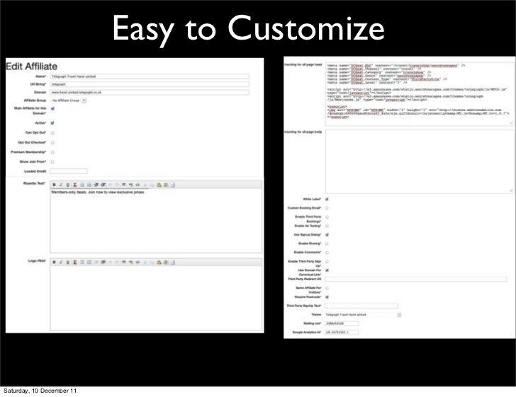 Easy to CustomizeSaturday, 10 December 11