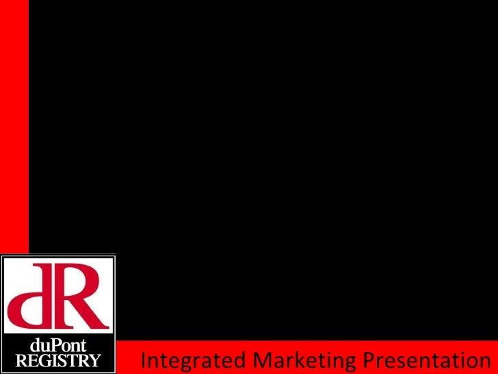 Integrated Marketing Presentation