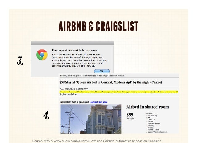 AIRBNB & CRAIGSLIST3.            4.     Source: http://www.quora.com/Airbnb/How-does-Airbnb-automatically-post-on-Craigslist