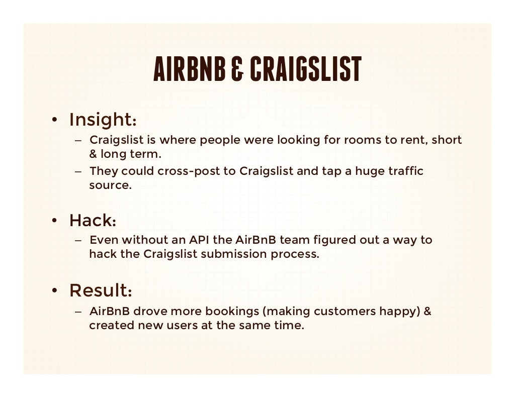 Airbnb Craigslist Insight