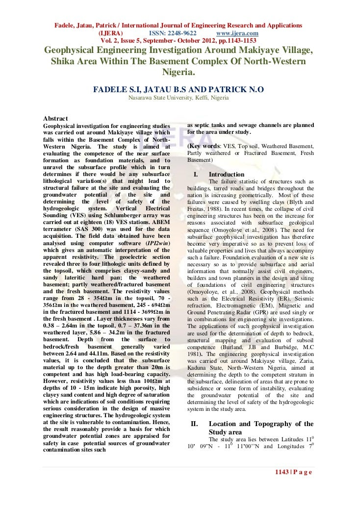 Fadele, Jatau, Patrick / International Journal of Engineering Research and Applications                    (IJERA)        ...