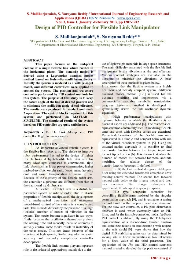 S. Mallikarjunaiah, S. Narayana Reddy / International Journal of Engineering Research and                   Applications (...