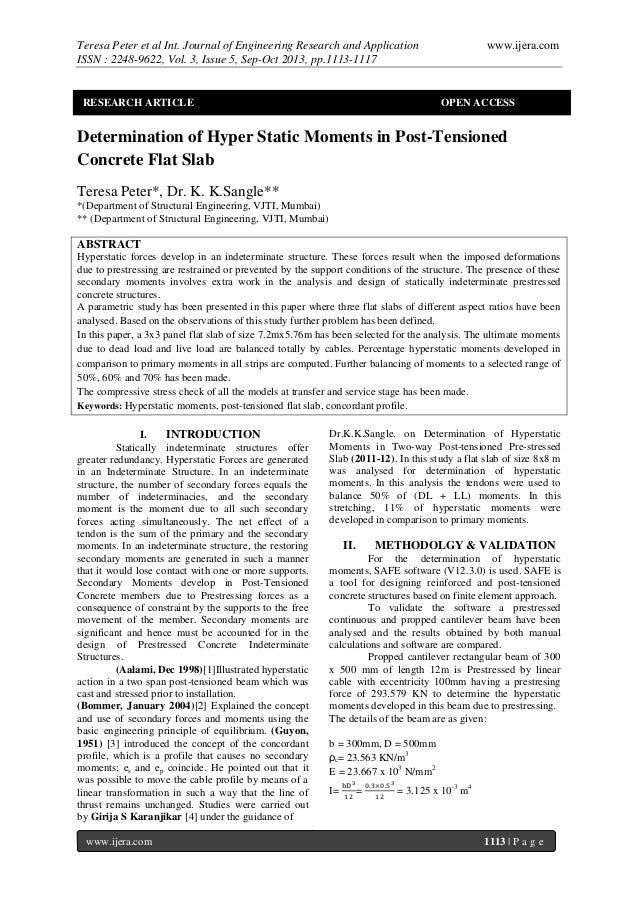 Teresa Peter et al Int. Journal of Engineering Research and Application ISSN : 2248-9622, Vol. 3, Issue 5, Sep-Oct 2013, p...