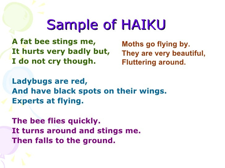 Teaching haiku poem