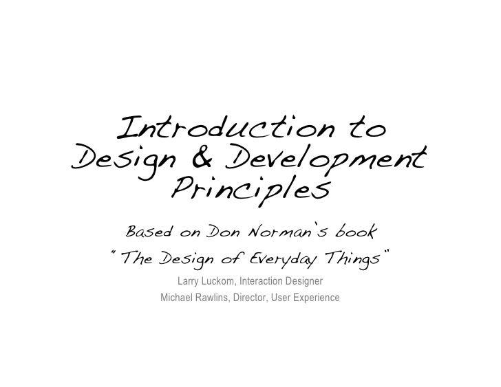 GHAMAS Design Principles