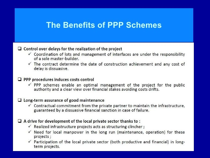 advantages of public private partnership With more and more local authorities working partnership with the private sector, john tizard offers advice to town hall commissioners.