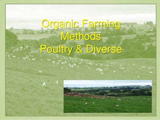 Organic FarmingMethodsPoultry & Diverse