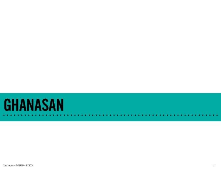 GHANASANUnilever + WSUP + IDEO   1