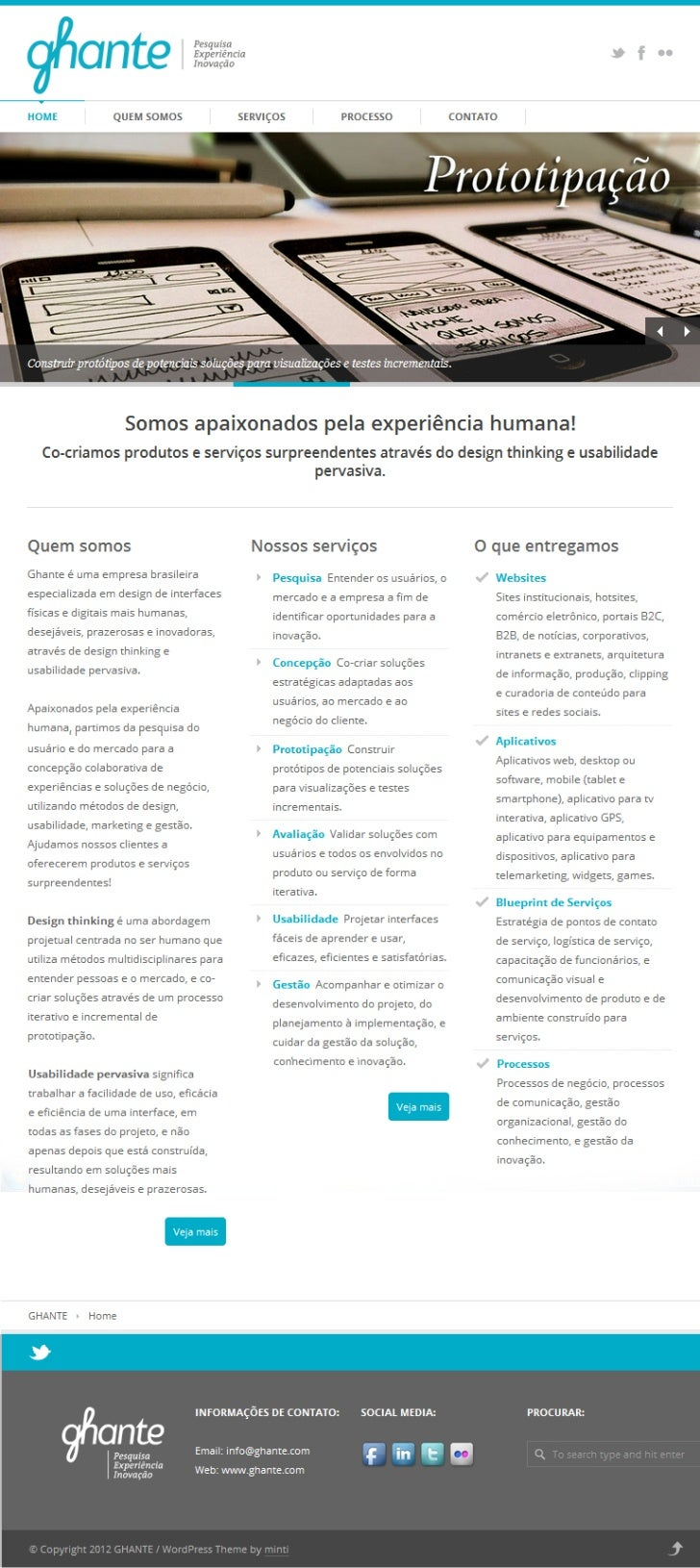Ghante Research, Experience & Innovation Homepage