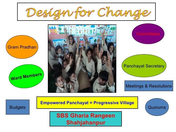 SBS Gharia Rangeen Shahjahanpur Empowered Panchayat = Progressive Village Gram Pradhan Ward Members Committees Panchayat S...