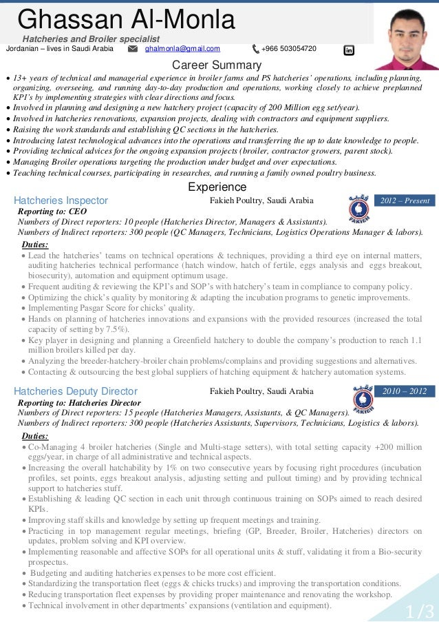 Famous Hatchery Manager Resume Image Collection - Best Resume ...
