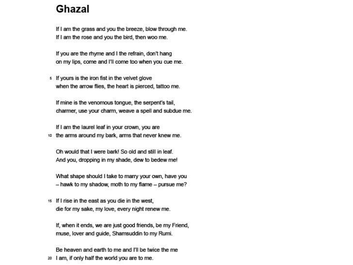 Ghazal and man hunt