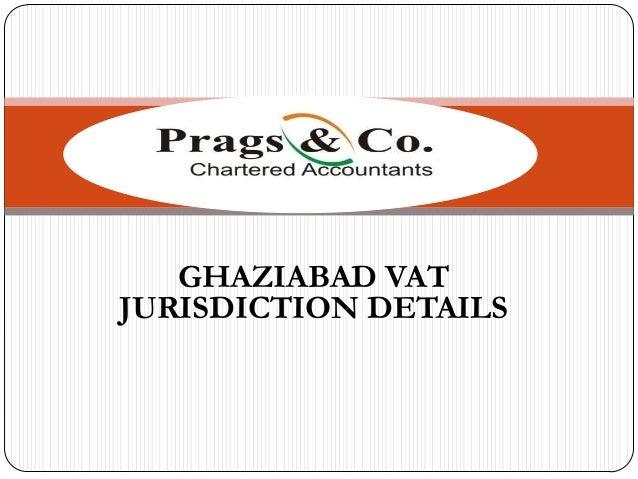 GHAZIABAD VAT JURISDICTION DETAILS