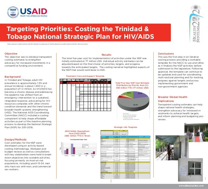 Targeting Priorities: Costing the Trinidad & Tobago National Strategic Plan for HIV/AIDS  Katie Senauer, Health Systems 20...