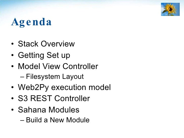 Agenda <ul><li>Stack Overview </li></ul><ul><li>Getting Set up </li></ul><ul><li>Model View Controller </li></ul><ul><ul><...