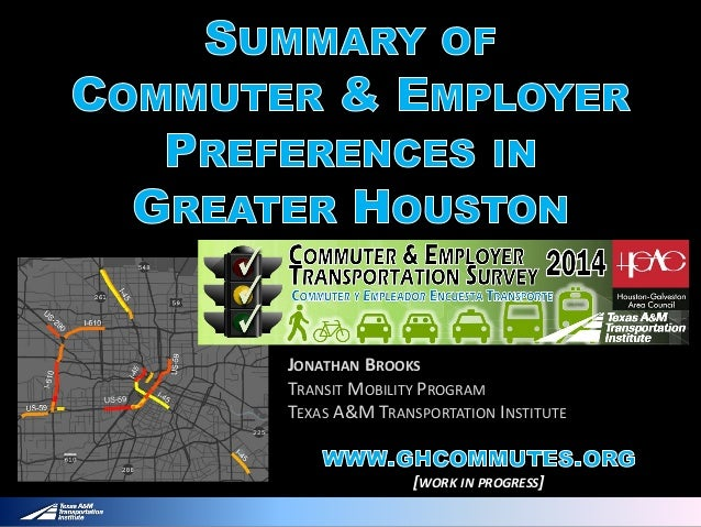 JONATHAN BROOKS TRANSIT MOBILITY PROGRAM TEXAS A&M TRANSPORTATION INSTITUTE [WORK IN PROGRESS]