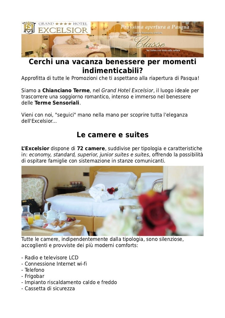 Offerte Hotel A Chianciano Terme Grand Hotel Excelsior